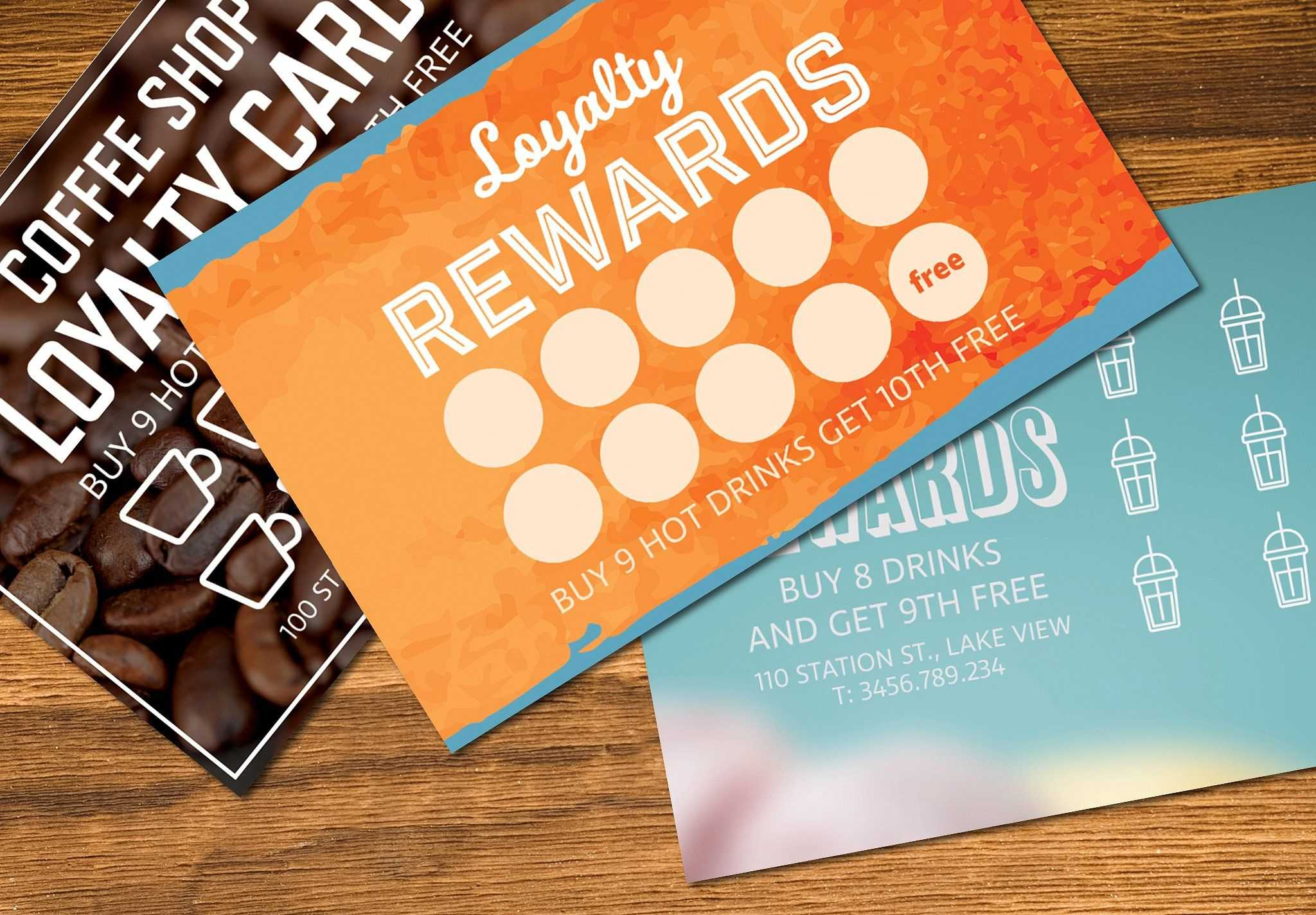 Loyalty Card Templates Mockup #organised#text#image#easy For Loyalty Card Design Template