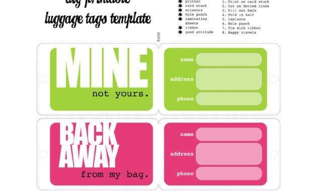 Luggage Tags Template   לונדון   Luggage Tag Template, Funny inside Luggage Tag Template Word