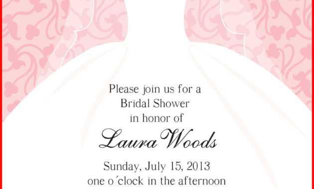 Luxury Blank Bridal Shower Invitations Image Of Invitation inside Blank Bridal Shower Invitations Templates