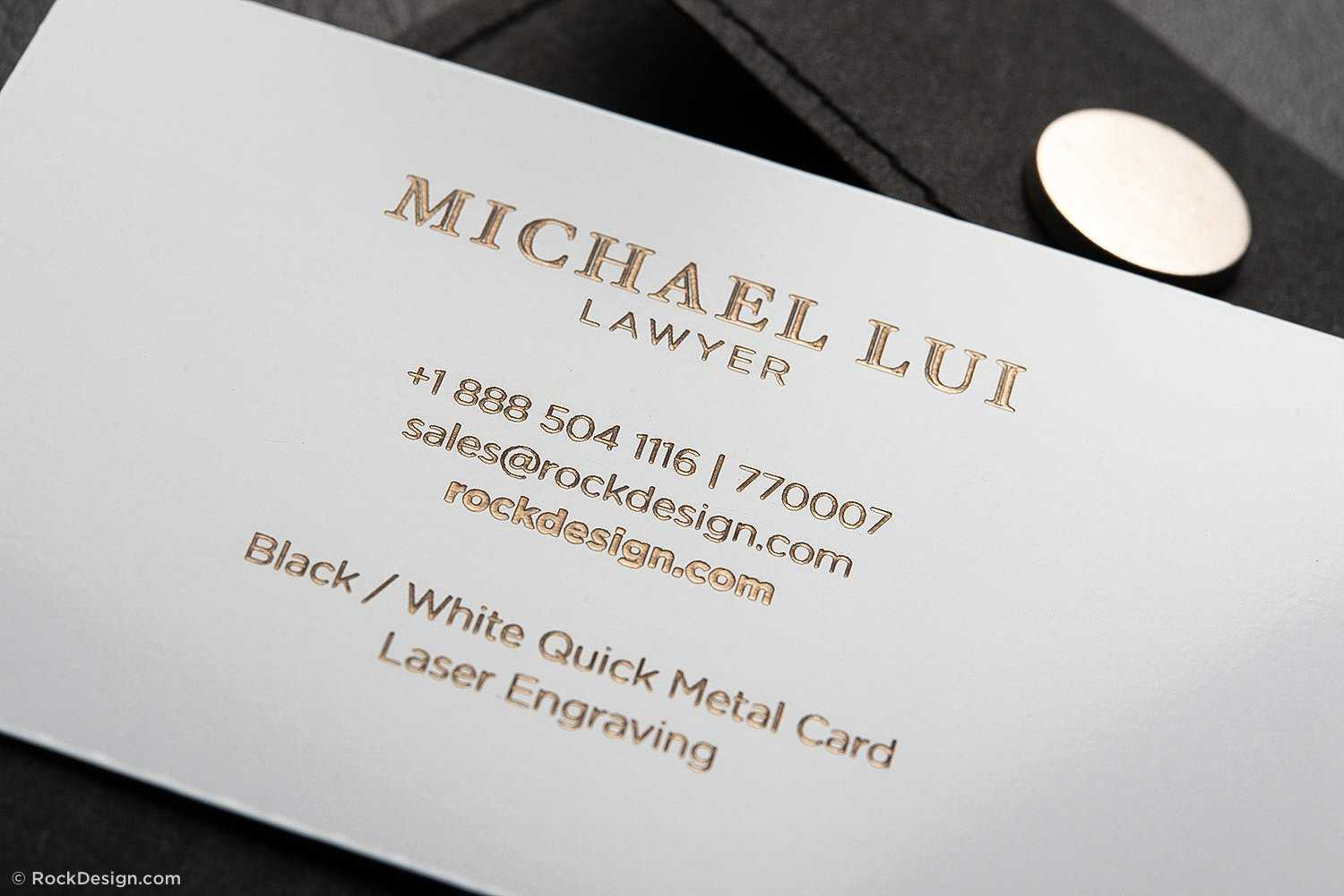 Luxury Metal Law Firm Free Black And White Business Card Regarding Legal Business Cards Templates Free