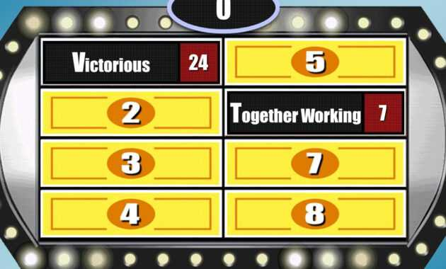 Make Your Own Family Feud Game With These Free Templates intended for Family Feud Game Template Powerpoint Free
