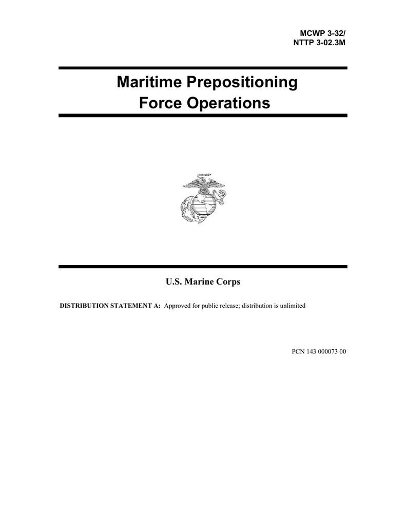 Maritime Prepositioning Force Operations U.s. Marine Corps Regarding Usmc Meal Card Template