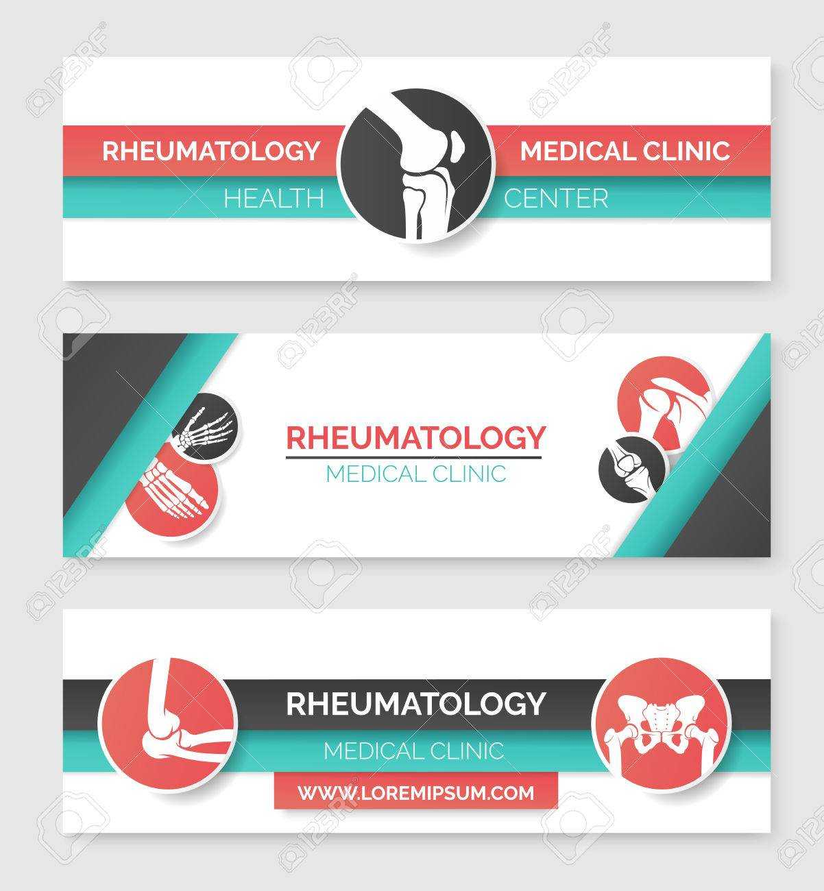 Medical Clinic And Health Center Banner Template Set. Round Badges.. Inside Medical Banner Template