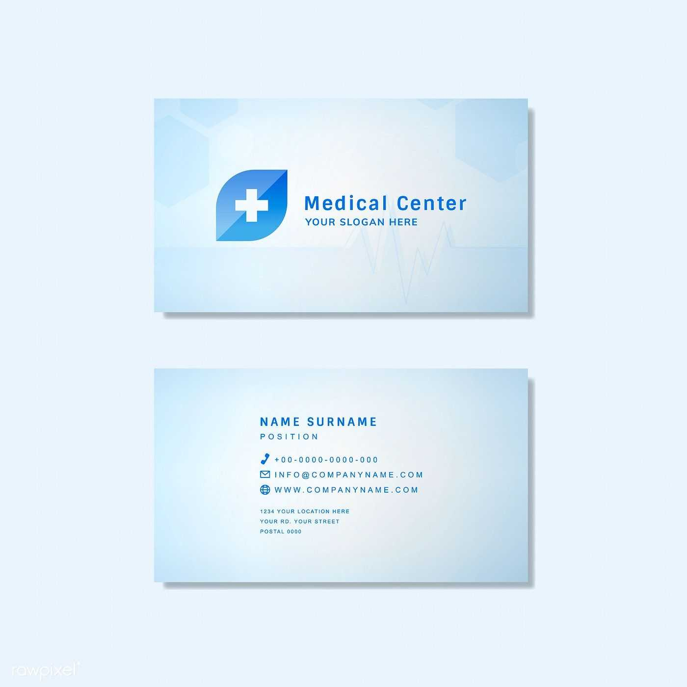 Medical Professional Business Card Design Mockup | Free Within Medical Business Cards Templates Free