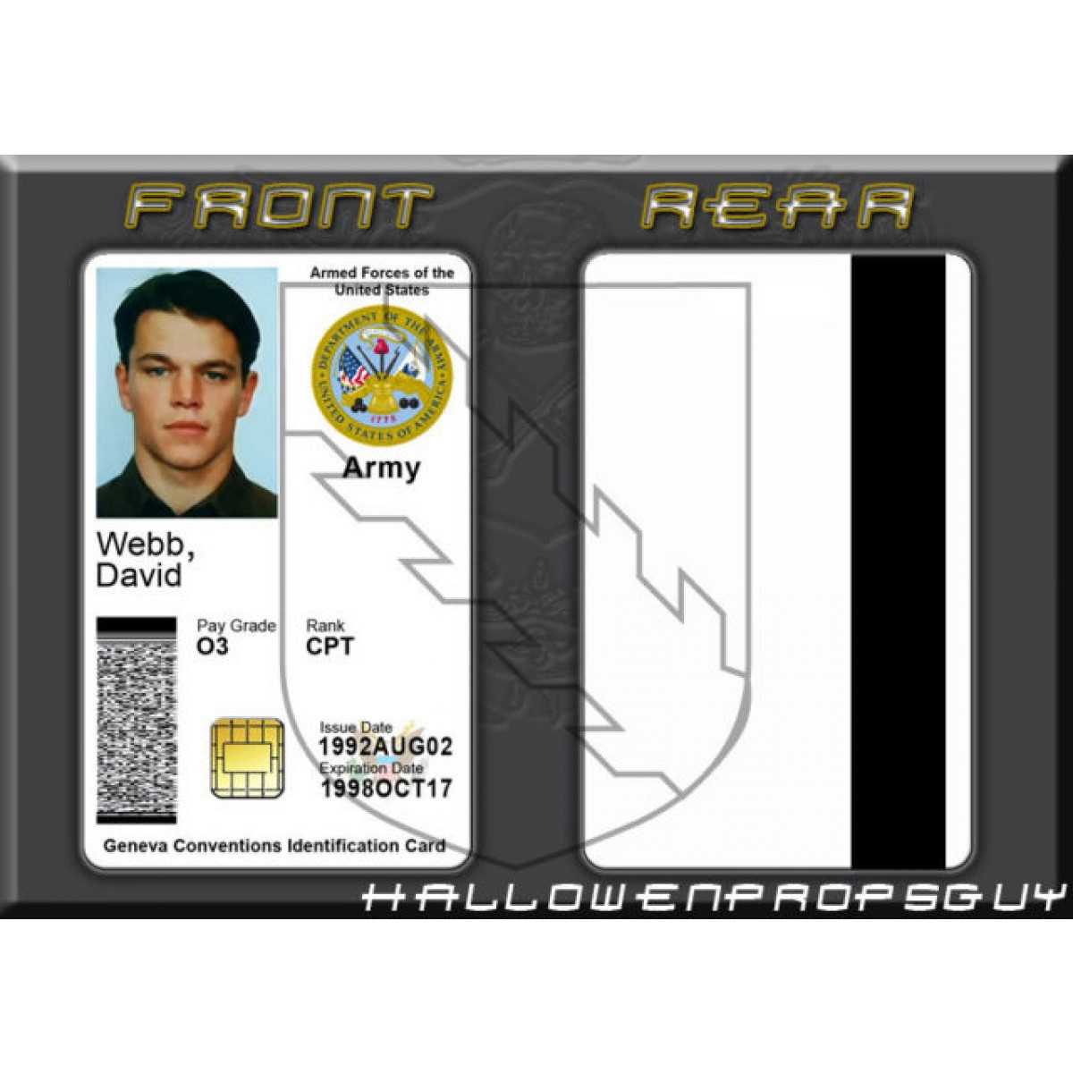 Military Id Template. Military Id Gallery. Badge Cool Www Throughout Mi6 Id Card Template