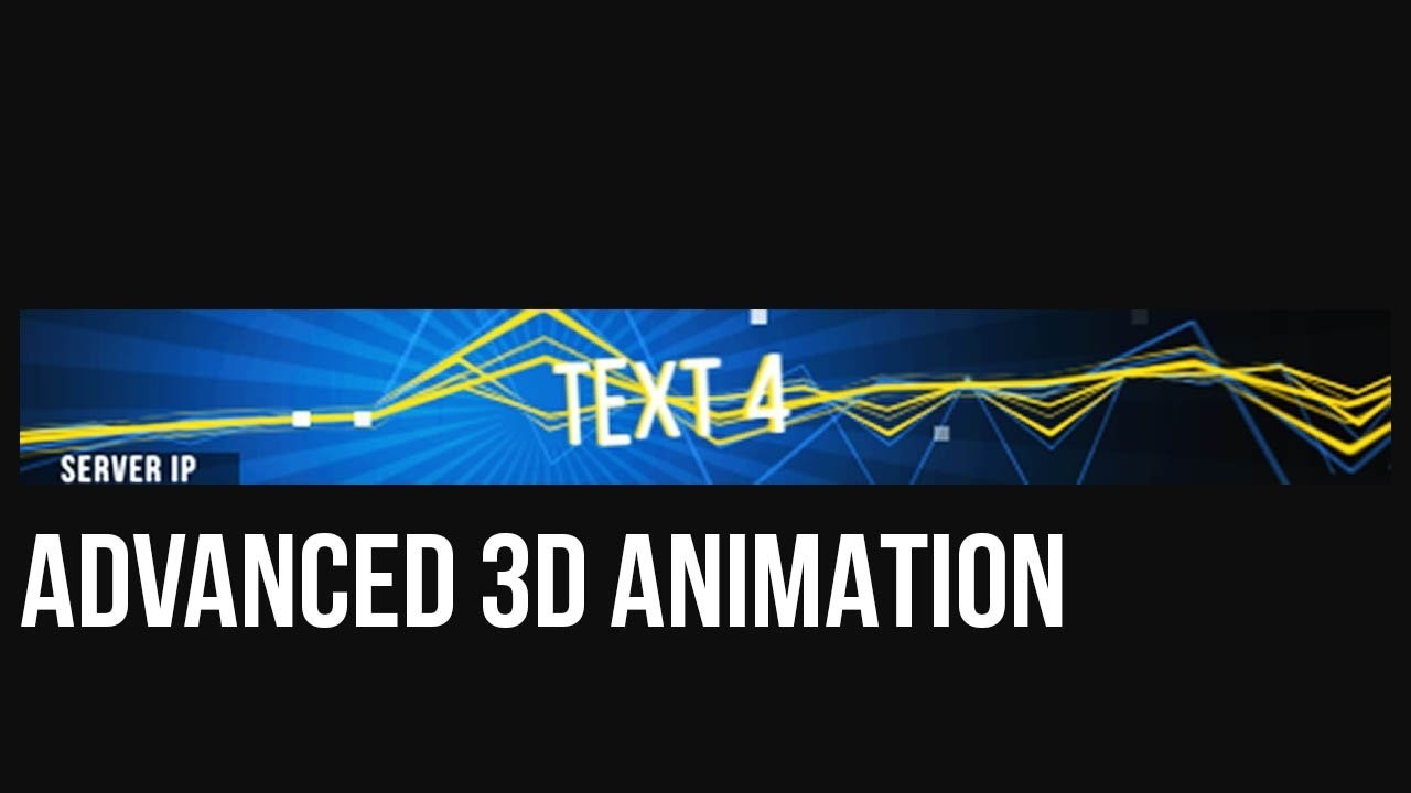 """Minecraft 3D Animated Banner Template – """"boomin' Beats"""" In Animated Banner Template"""