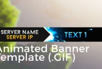 "Minecraft Animated Server Banner Template ""super Dazzle"" Intended For Animated Banner Template"