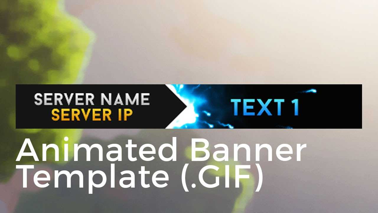 "Minecraft Animated Server Banner Template ""super Dazzle"" With Animated Banner Templates"