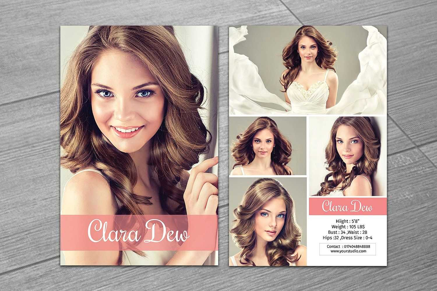 Modeling Comp Card Template V247Template Shop On Inside Zed Card Template Free