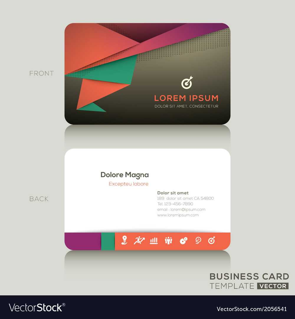 Modern Business Cards Design Template Inside Modern Business Card Design Templates