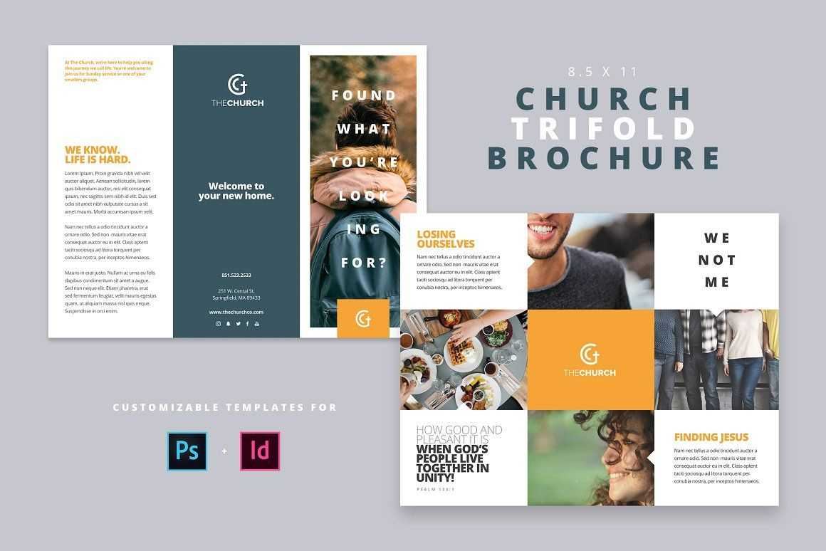 Modern Church Trifold Brochure - Brochures | Design: Graphic With Welcome Brochure Template