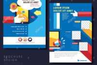 Modern Flat Design Flyer Template For Social Media Concept within Social Media Brochure Template