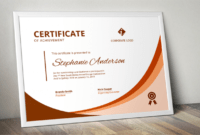 Modern Word Certificate Template with Word 2013 Certificate Template