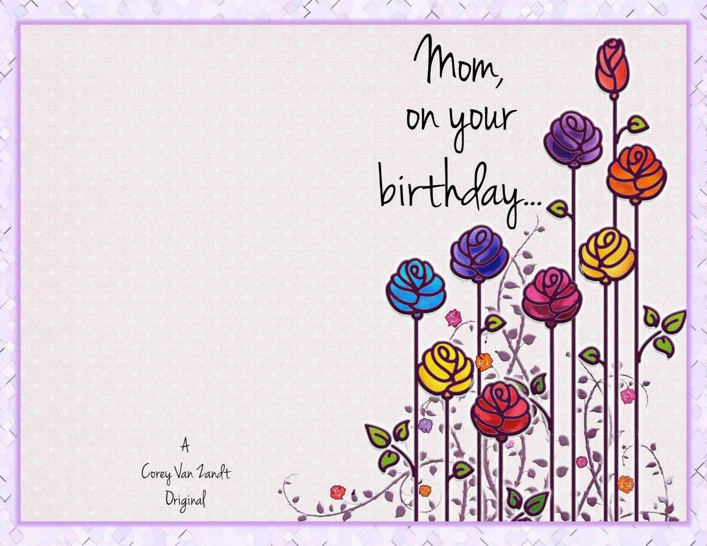 Mom Birthday Card Template | Theveliger Inside Mom Birthday Card Template