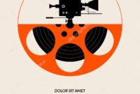 Movie Film Festival Poster Template Design Modern Retro regarding Film Festival Brochure Template
