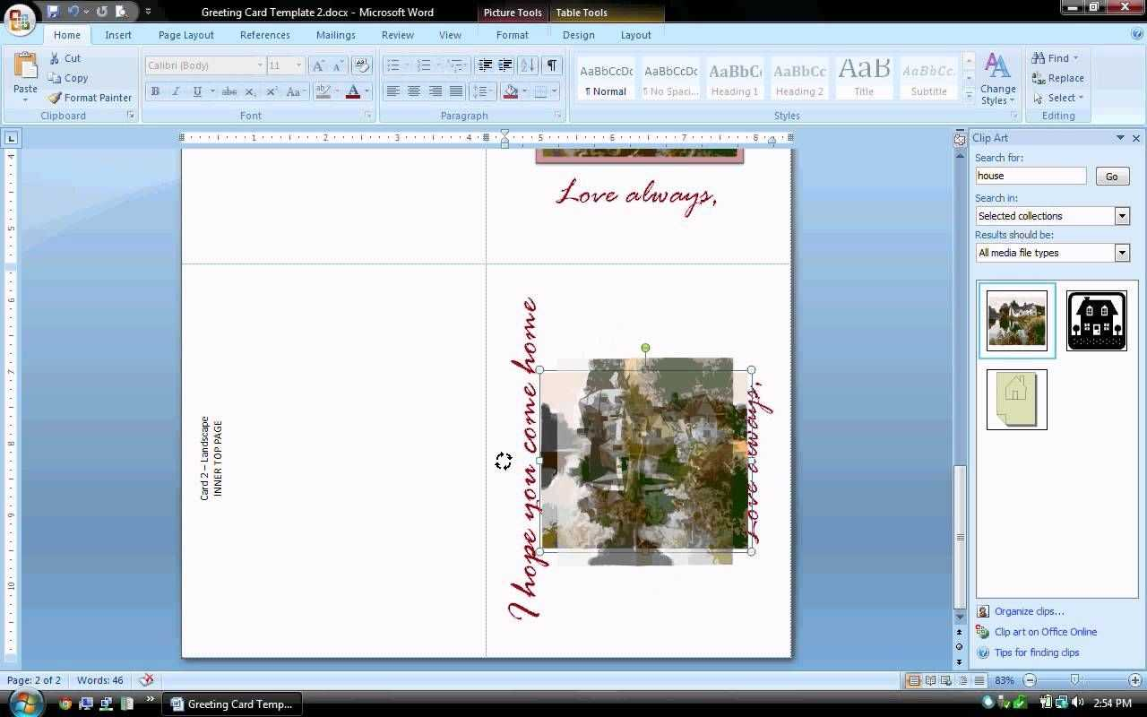 Ms Word Tutorial (Part 2) - Greeting Card Template Inside Microsoft Word Birthday Card Template