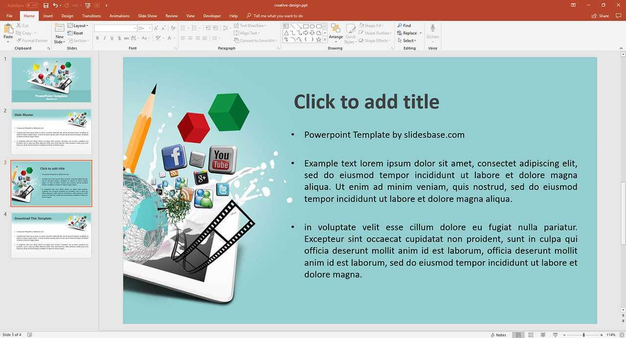 Multimedia Design Presentation Template | Prezibase With Regard To Multimedia Powerpoint Templates