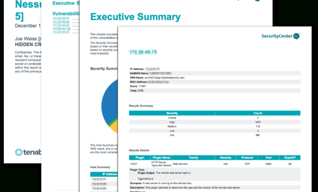 Nessus Scan Report (Top 5) - Sc Report Template | Tenable® intended for Nessus Report Templates