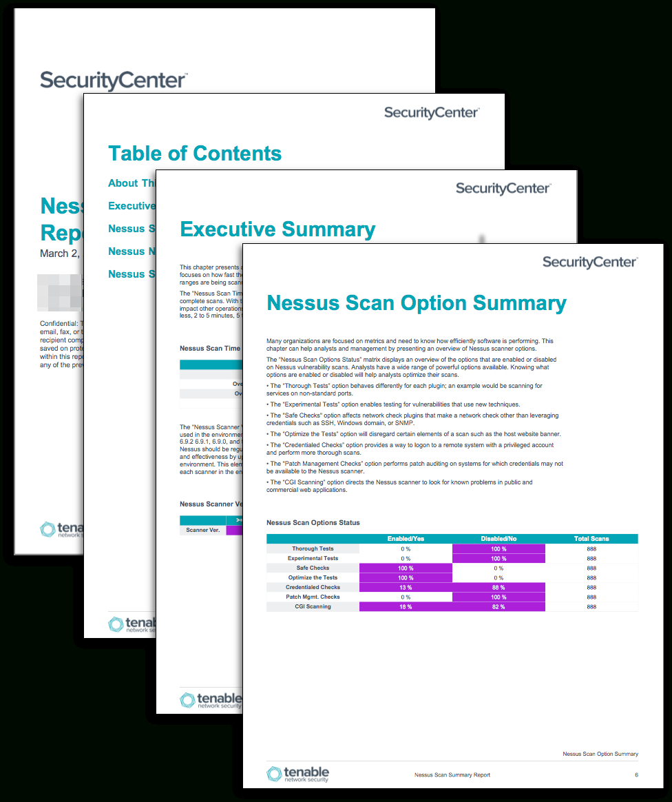 Nessus Scan Summary Report - Sc Report Template | Tenable® Intended For Nessus Report Templates