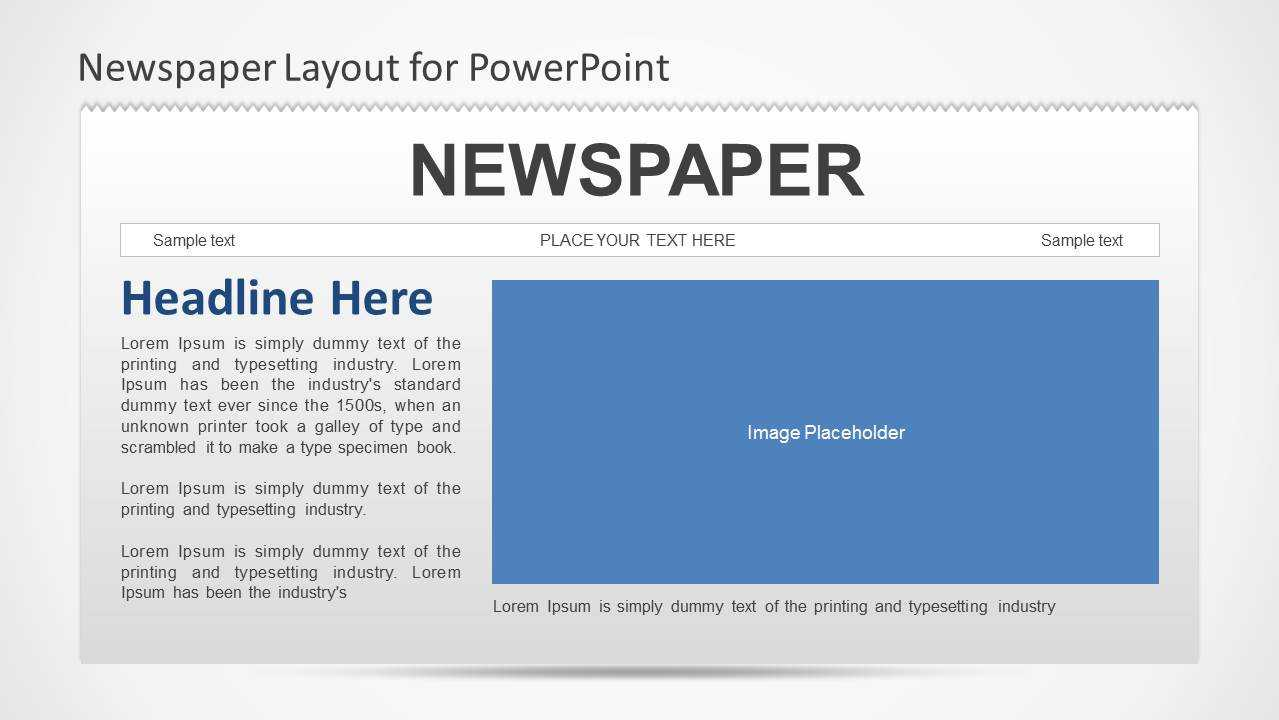 Newspaper Powerpoint Template For Newspaper Template For Powerpoint