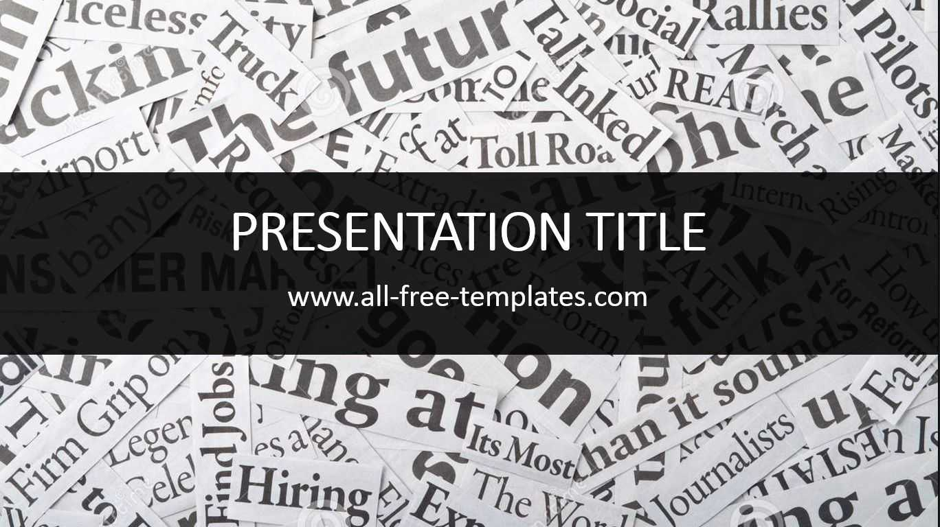 Newspaper Powerpoint Template Is Free Template That You Can Within Newspaper Template For Powerpoint
