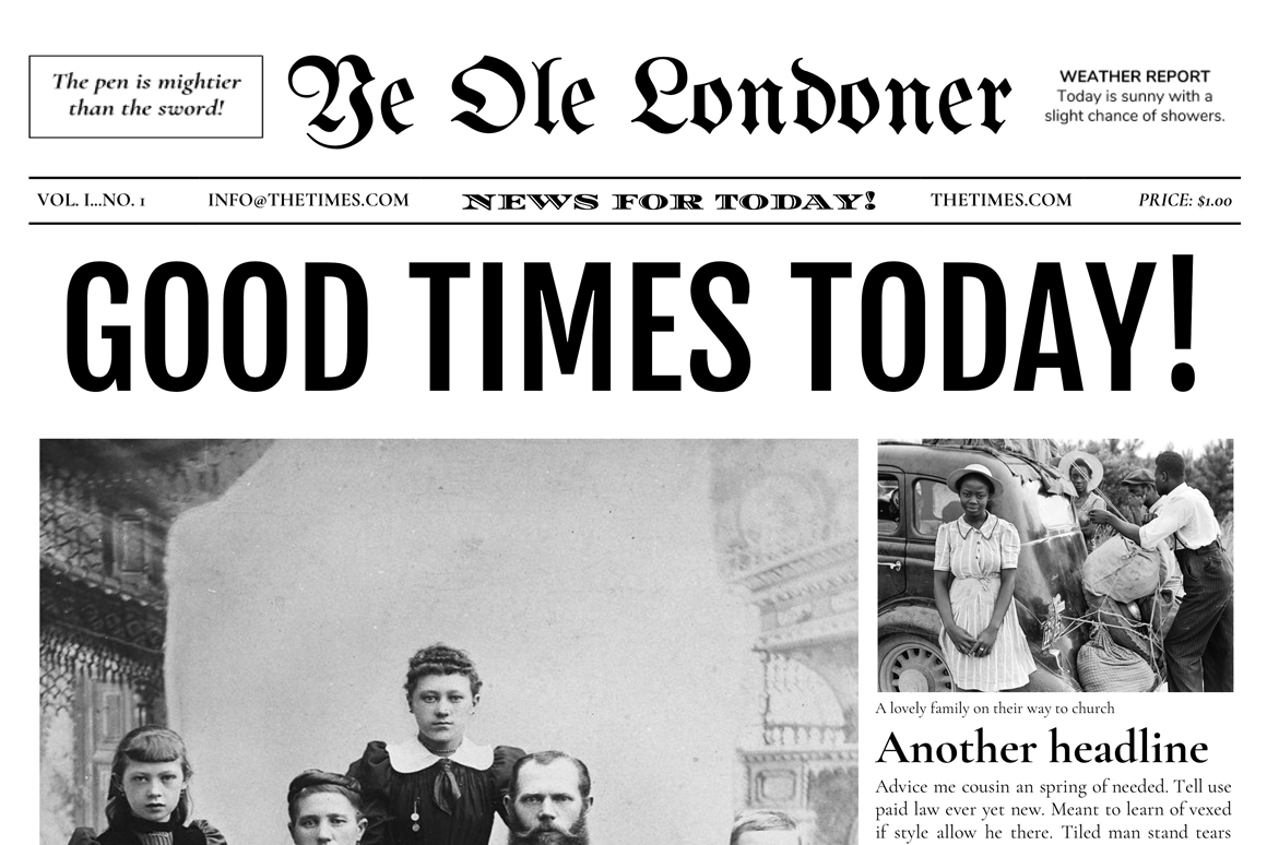 Newspaper Template For Google Docs (4 Pages) – Vsual Intended For Newspaper Template For Powerpoint