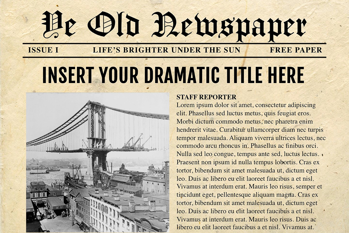 Newspaper Template For Powerpoint – Vsual Inside Newspaper Template For Powerpoint