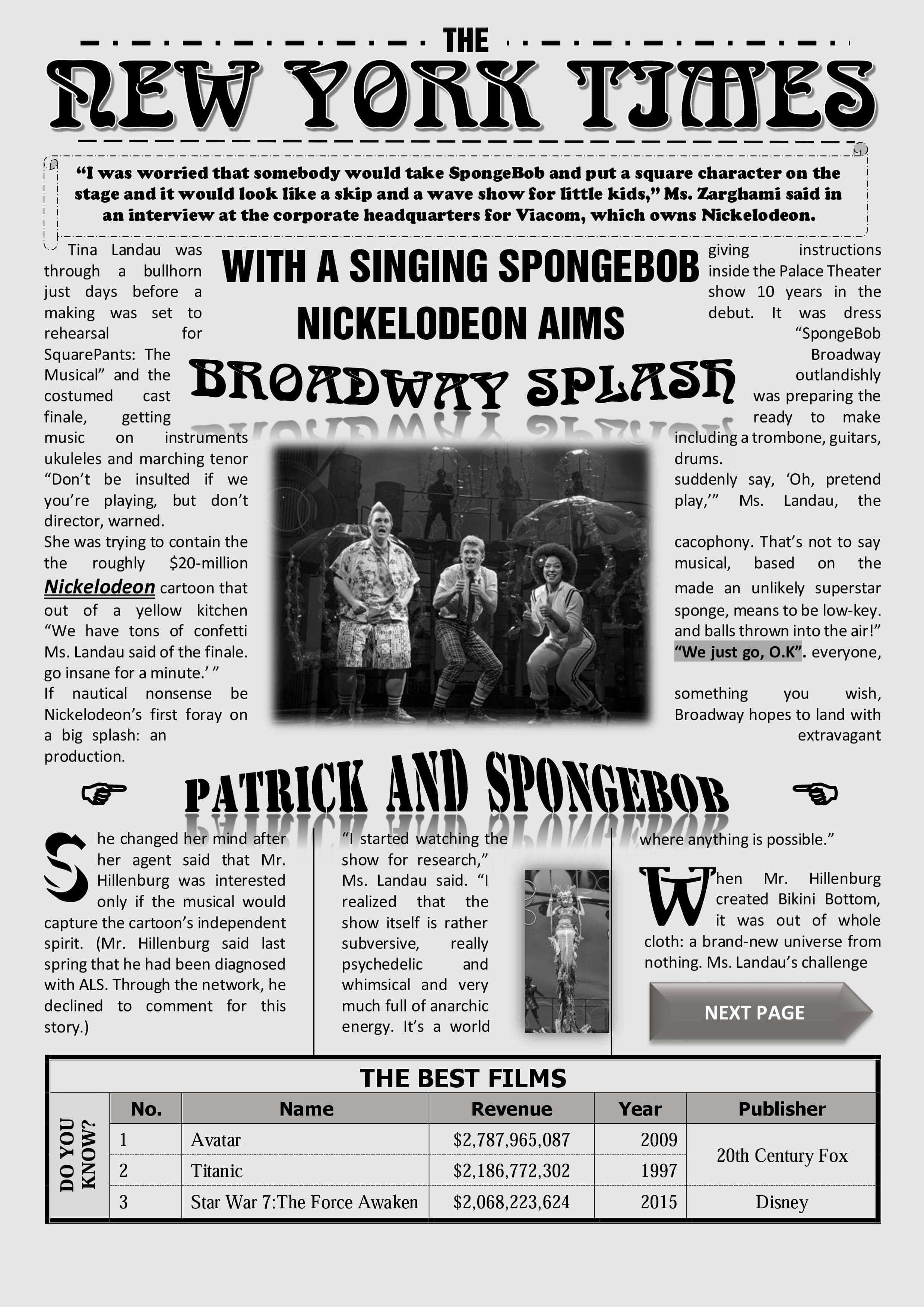 Newspaper Template On Word New York Times Newspaper With Regarding Newspaper Template For Powerpoint