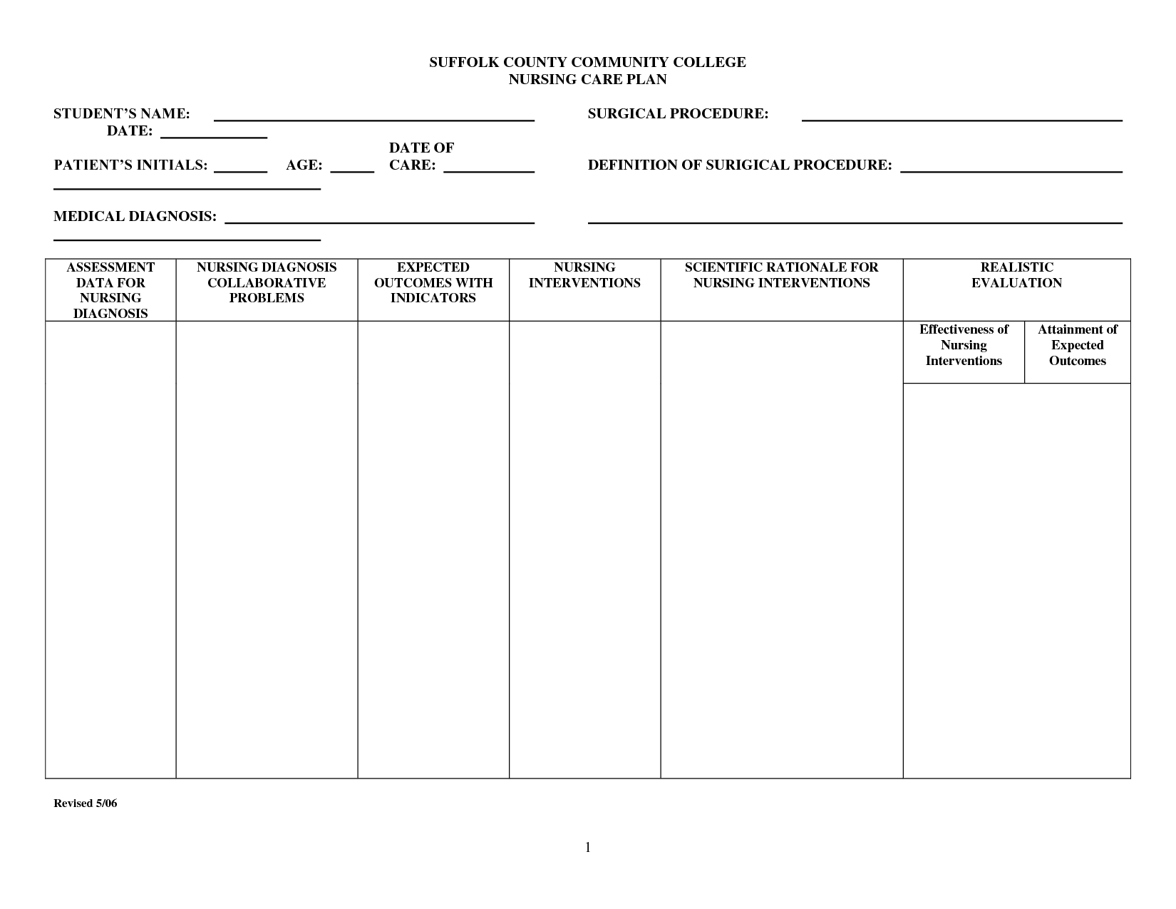Nursing Care Plan Templates Blank - Atlantaauctionco Regarding Nursing Care Plan Templates Blank