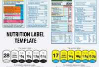 Nutrition Facts Label Template Stock Illustration Of Canada for Nutrition Label Template Word