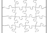 P Is For Puzzle – Free Blank Jigsaw Puzzle Template within Blank Jigsaw Piece Template