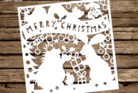 Papercut Diy Design Template – 'woodland Friends Christmas in Diy Christmas Card Templates
