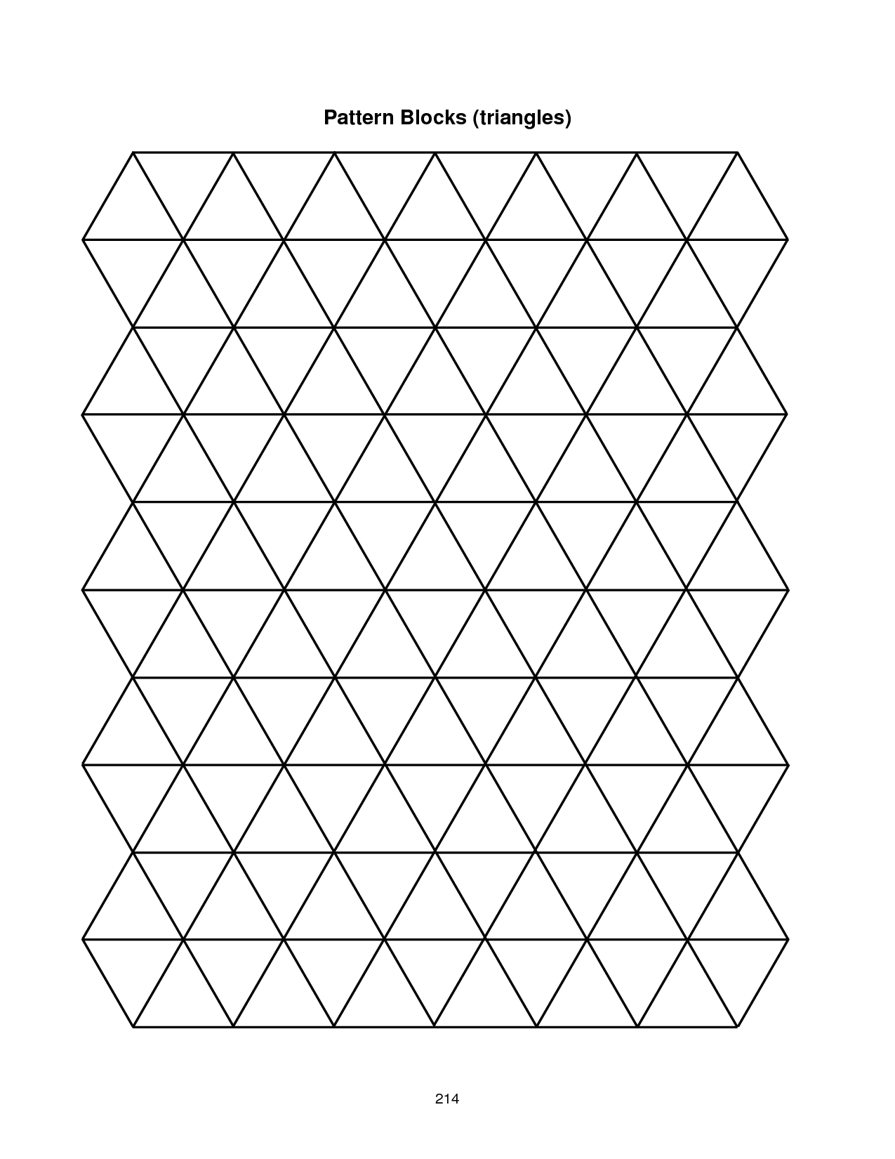 Pattern Block Template | Pattern Blocks (Triangles) 214 With Blank Pattern Block Templates