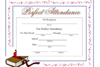 Perfect Attendance Certificate – Download A Free Template inside Perfect Attendance Certificate Template