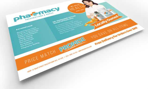 Pharmacy Flyer Template - Psd, Ai & Vector - Brandpacks intended for Pharmacy Brochure Template Free