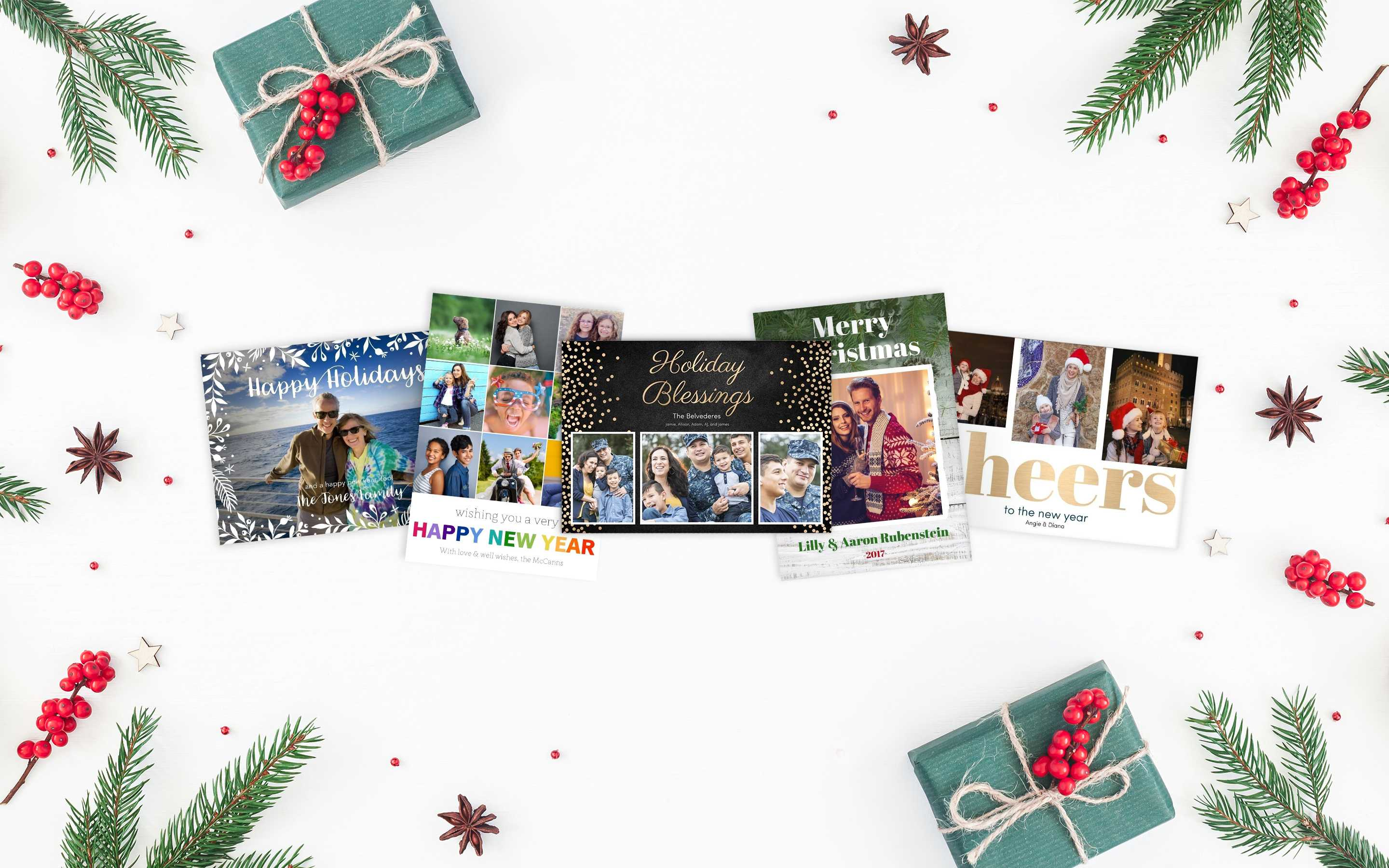 Photo Cards Throughout Birthday Card Collage Template
