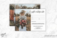 Photographer Gift Certificate Template @me64 in Photoshoot Gift Certificate Template