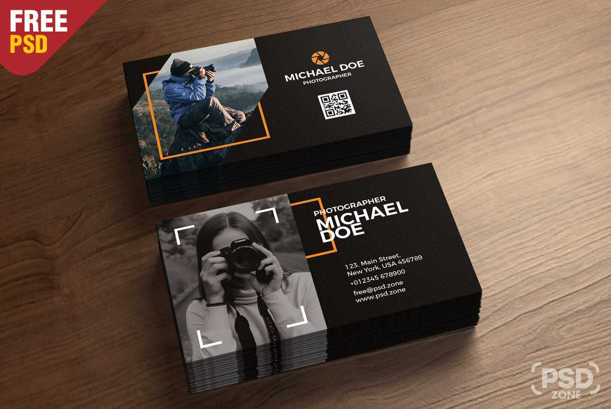Photography Business Cards Template Psd - Psd Zone Pertaining To Free Business Card Templates For Photographers