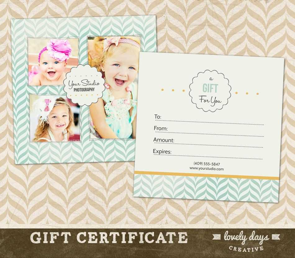 Photography Gift Certificate Template For Professional Regarding Free Photography Gift Certificate Template
