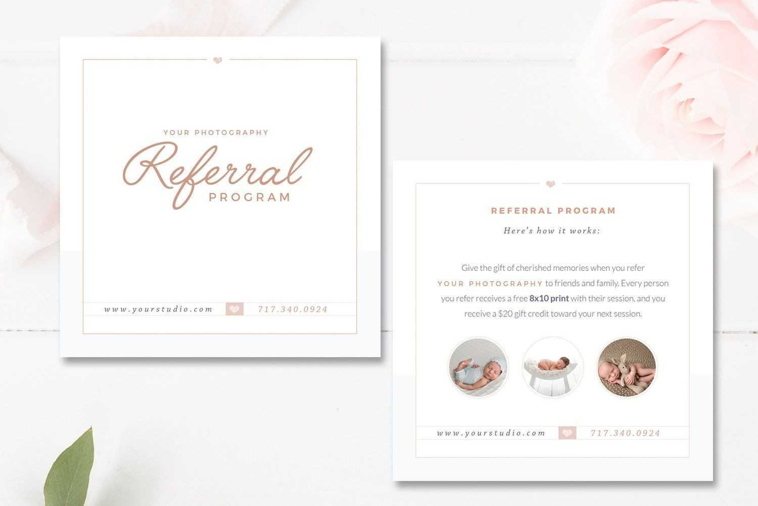 Photography Referral Card Templates, Referral Program With Regard To Photography Referral Card Templates