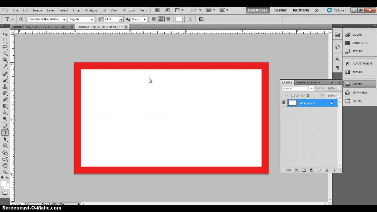 Photoshop Business Card Template With Bleeds & Correct Business Card  Dimensions Pertaining To Business Card Size Template Photoshop