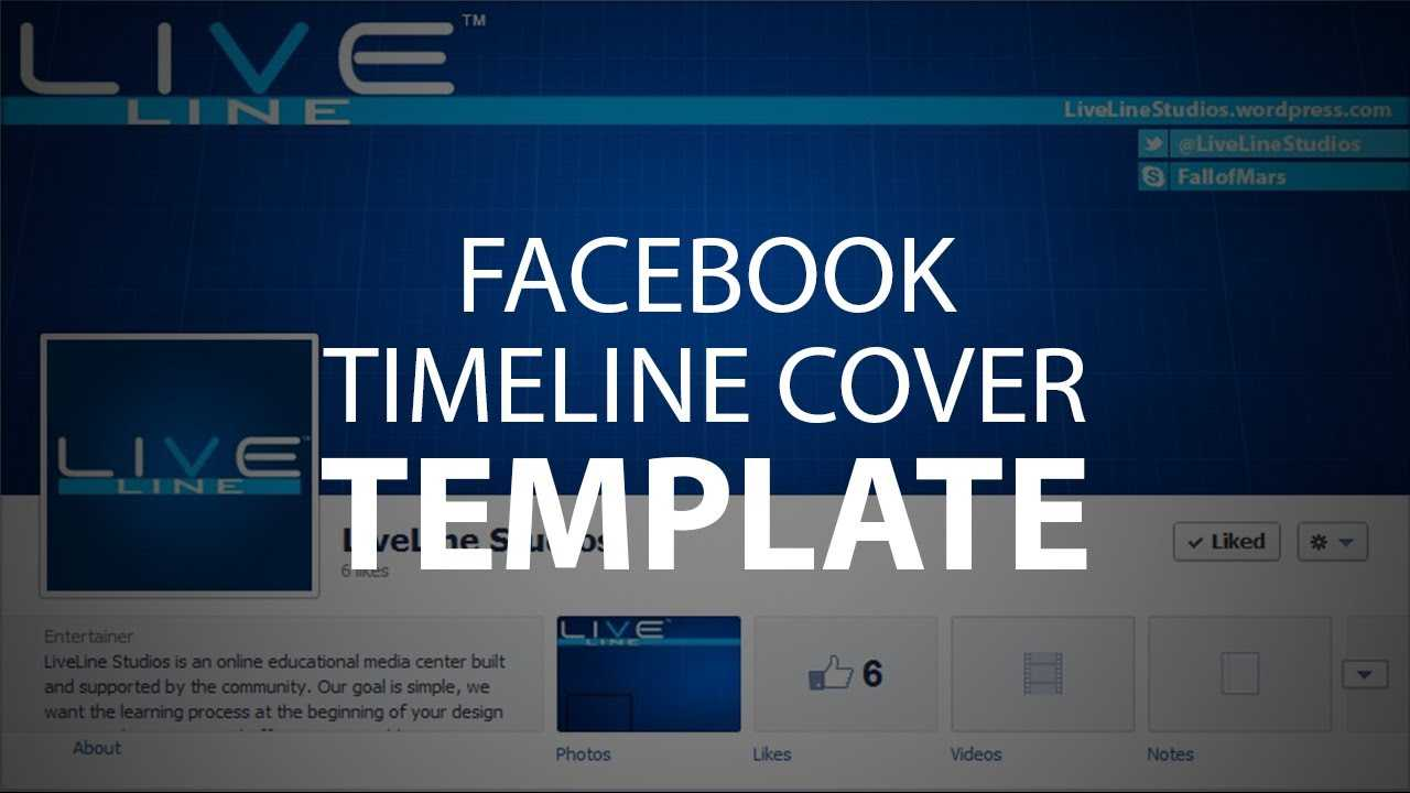Photoshop Template: Facebook Timeline Cover (Psd File) Within Facebook Banner Template Psd