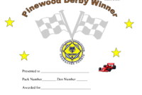 Pin On Cub Scouts intended for Pinewood Derby Certificate Template