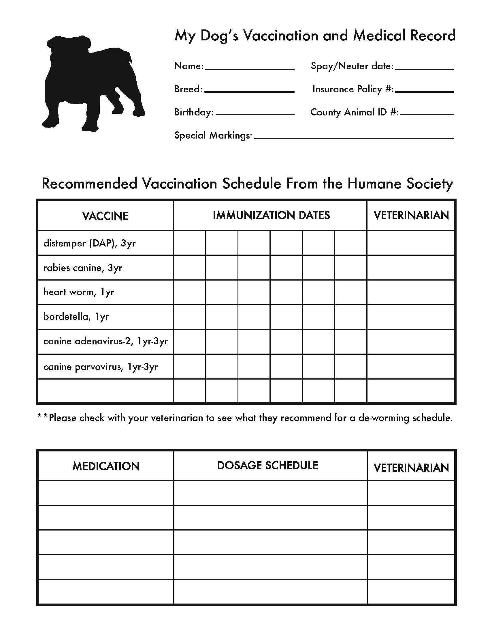 Pin On Cute Pets With Dog Vaccination Certificate Template