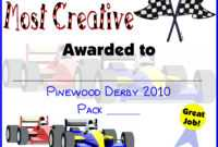 Pin On Do Your Best! Cub Scouts in Pinewood Derby Certificate Template