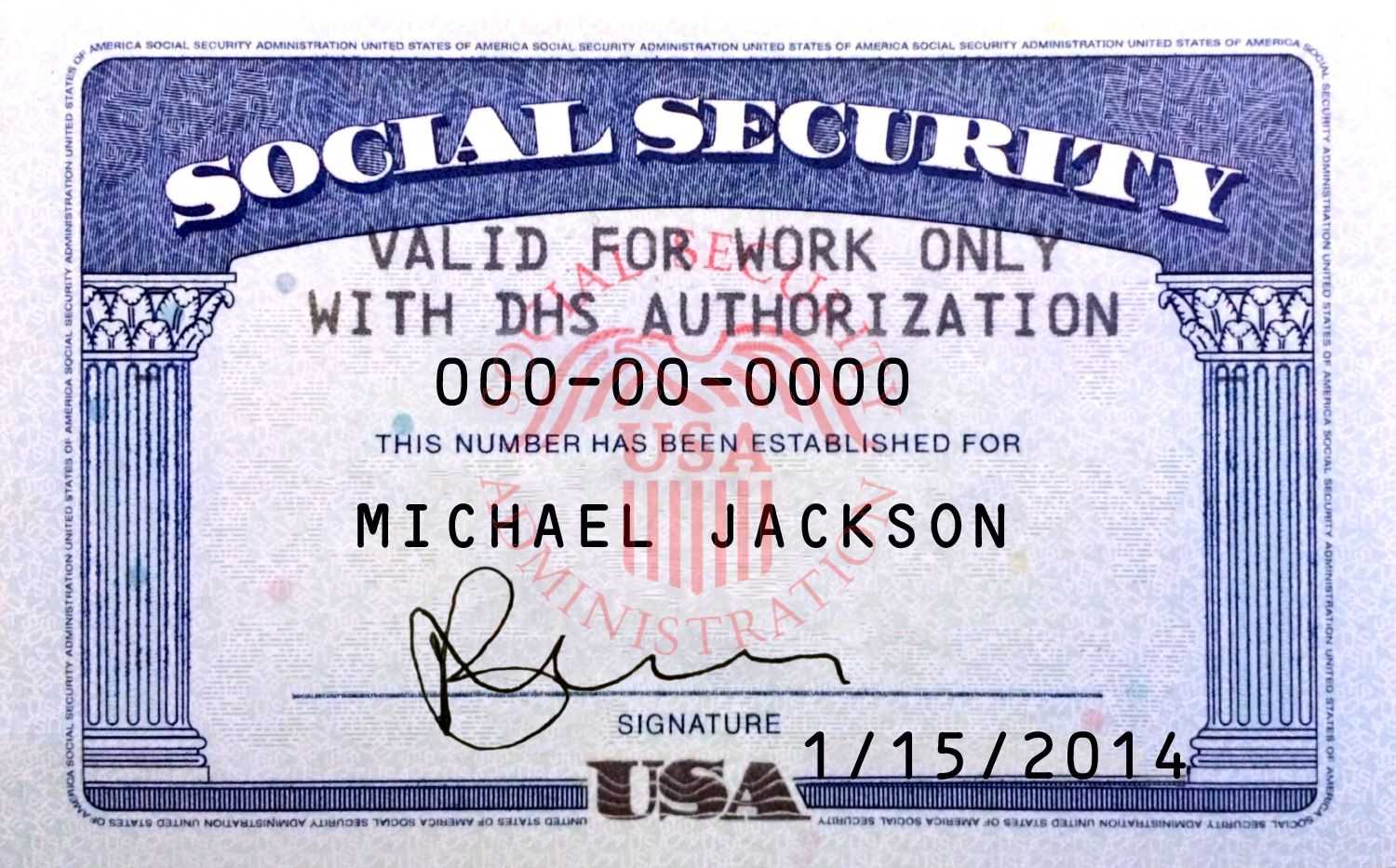Pin On Novelty Psd Usa Ssn Template Pertaining To Ssn Card Template