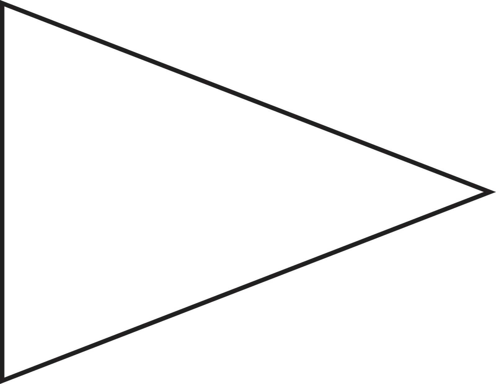 Pin Triangle Flag Outline Clip Art Vector Online Royalty Within Triangle Pennant Banner Template