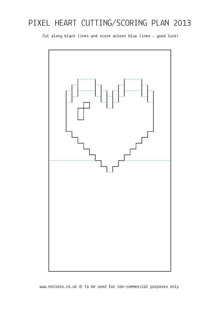 Pindede Paper On Paper Paper:sort 25 | Pop Up Card With Intended For Pixel Heart Pop Up Card Template