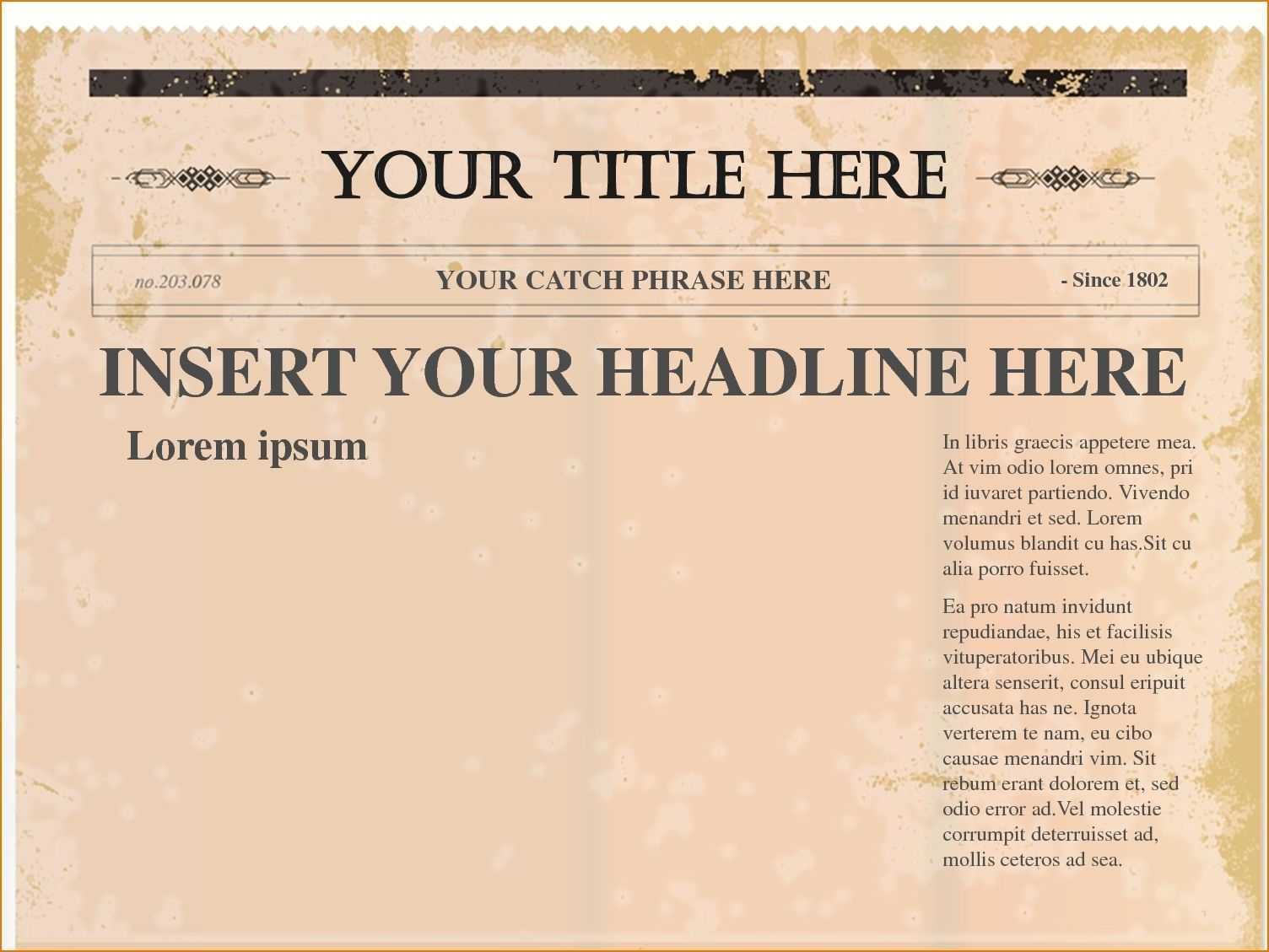 Pindollarcool On Ideas   Newspaper Template Word, Blank Throughout Newspaper Template For Powerpoint