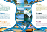 Pinfarideh On Brochure Design   Travel Brochure Design intended for Island Brochure Template